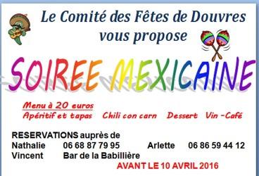 Le Comité des Fêtes organise une soirée mexicaine